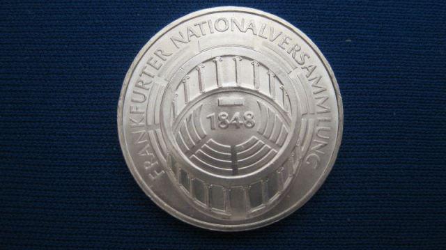 5 Dm Silber Gedenkmünze Frankfurter Nationalversammlung 1973 G Stg