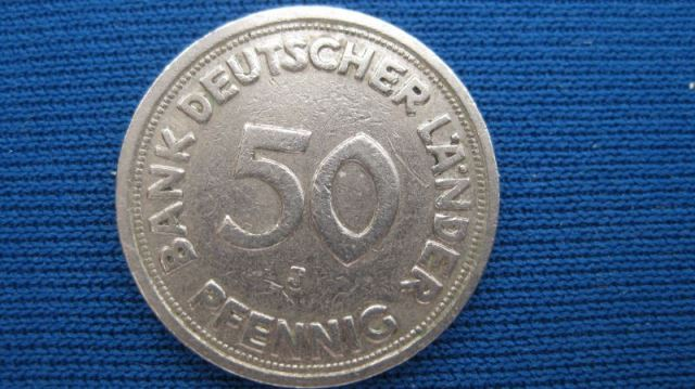 50 Pfennig Kursmünze 1950 G Ssvz Oldthing Brd Dm Kursmünzen