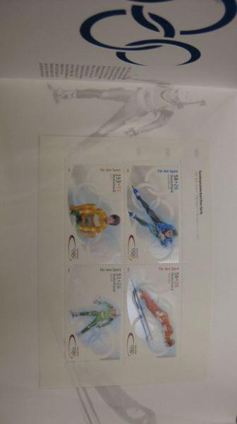 Markenheft, Marken-Set Sporthilfe 2002, MH-Mi.-Nr. 47  Olympische Winterspiele Salt Lake City, Postfrisch