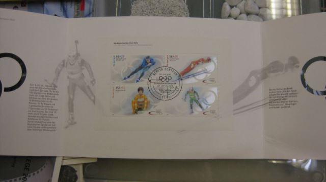 Marken-Set, Markenheft Sporthilfe, MH-MiNr. 47, Olympische Winterspiele 2002, Salt Lake City, Ersttags-Sonderstempel