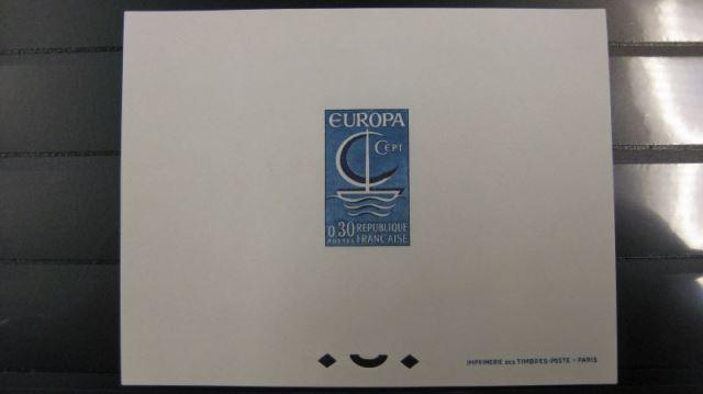 Frankreich Europa Union CEPT 1966 Epreuves de Luxe - Paar Michel-Nr. 1556-57