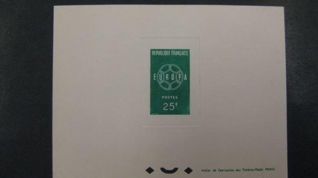 Frankreich Epreuve de Luxe Europa Union CEPT 1959 Michel-Nr. 1262-63
