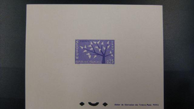 Frankreich Epreuves de Luxe CEPT Europa Union 1962 Frankreich Michel-Nr. 1411-12