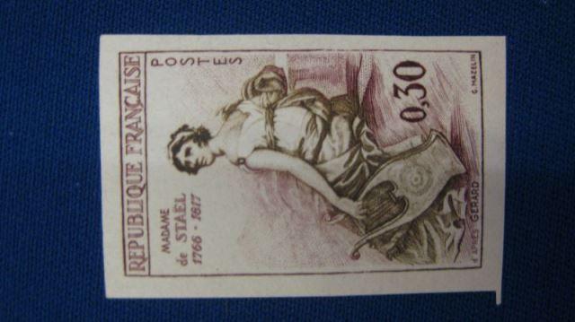 Frankreich 1960 Madamede Stael MNr. 1322 U ** Ungezähnt geschnitten