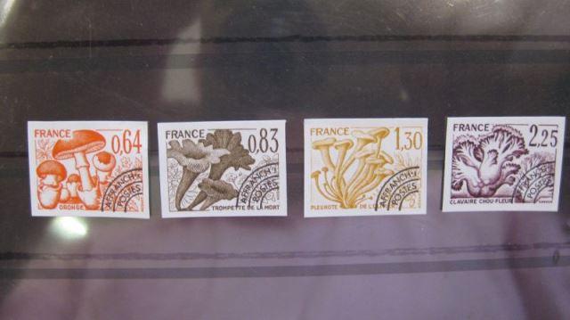Frankreich MNr. 2136-39 Vorausentwertung Pilze 1979 Kpl. Satz geschnitten ungezähnt