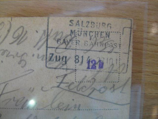 Salzburg Feldpost Bahnpoststempel 1