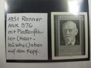 Schwarzdruckmarke der Mi.-Nr. 959 mit Plattenfehler