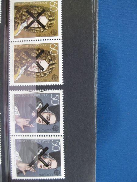 CEPT EUROPA-UNION 1980 Deutschland Mi.-Nr. 1049-50 mit Andreaskreuz waagerechtes Paar