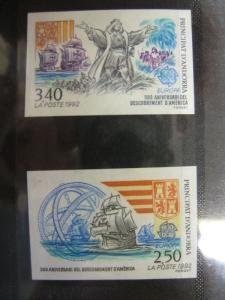 Französisch Andorra CEPT 1992 Mi-Nr. 437 U-438 U, ** geschnitten, ungezähnt