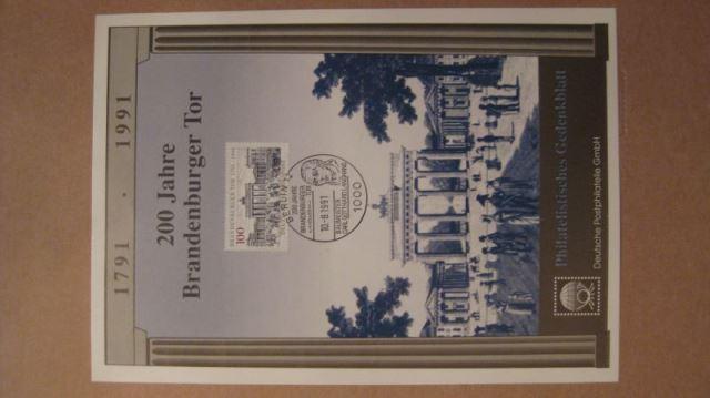 Gedenkblatt 200 Jahre Brandenburger Tor