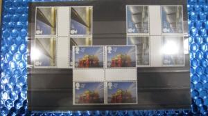 CEPT EUROPA-UNION Großbritannien 1983  2 x Zwischenstegpaare 953 ZW - 955 ZW **
