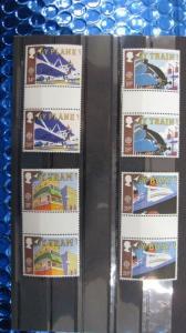 CEPT EUROPA-UNION Großbritannien 1988 Zwischenstegpaare ZW1147- ZW 1150 **