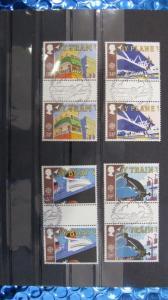 CEPT EUROPA-UNION Großbritannien 1988 Zwischenstegpaare ZW 1147- ZW 1150 gestempelt