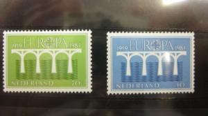 CEPT EUROPA-UNION Niederlande 1984 Michel-Nr. 1251 C-1252 C **