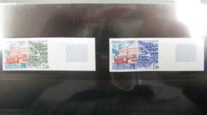 CEPT-Mitläufer EUROPA-UNION-Symphatie-Ausgabe Dienstmarken für den EUROPA-Rat Mi.-Nr. 32 U-33 U, ** geschnitten, ungezähnt