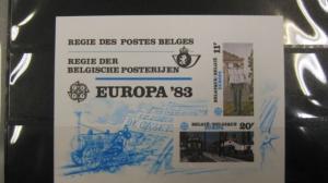 CEPT EUROPA-UNION Belgien 1983 Amtlicher Gedenkblock
