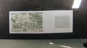 CEPT-Mitläufer EUROPA-UNION-Symphatieausgabe Dienstmarken für den EUROPA-RAT Farbprobe Nr. 27 U ** geschnitten, ungezähnt