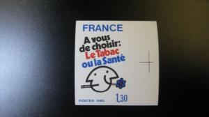 Weltgesundheitstag, Anti-Raucher-Kampagne 1980, 2200 U **, geschnitten, ungezähnt