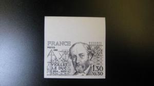 Violett-le-Duc 1980, 2195 U **, geschnitten, ungezähnt