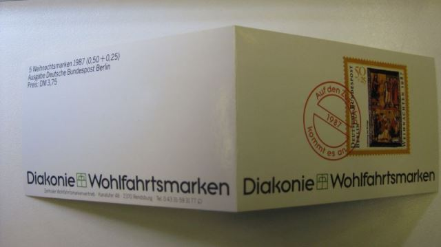 Privates Markenheft Diakonie Wohlfahrtsmarken BERLIN 1987 **