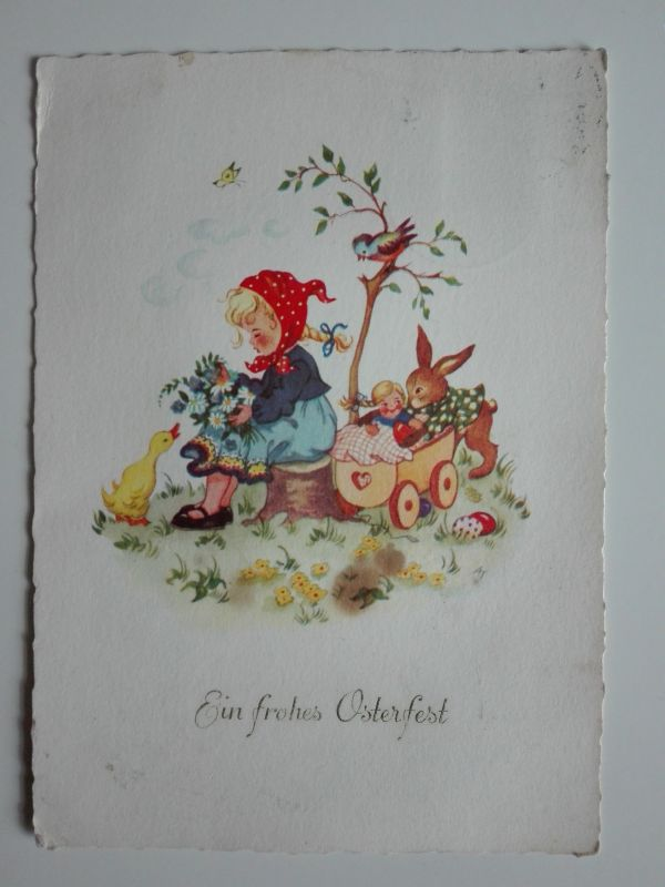 Ak Ostern, Ein frohes Osterfest von 1958