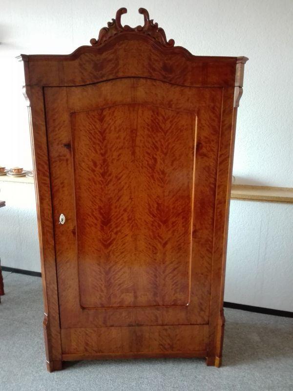 Kleiderschrank , Eintürer, Louis Philippe Stil 1