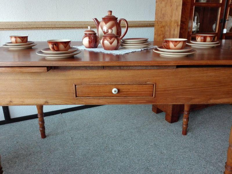 antiker Tisch ausziehbar Esche 2