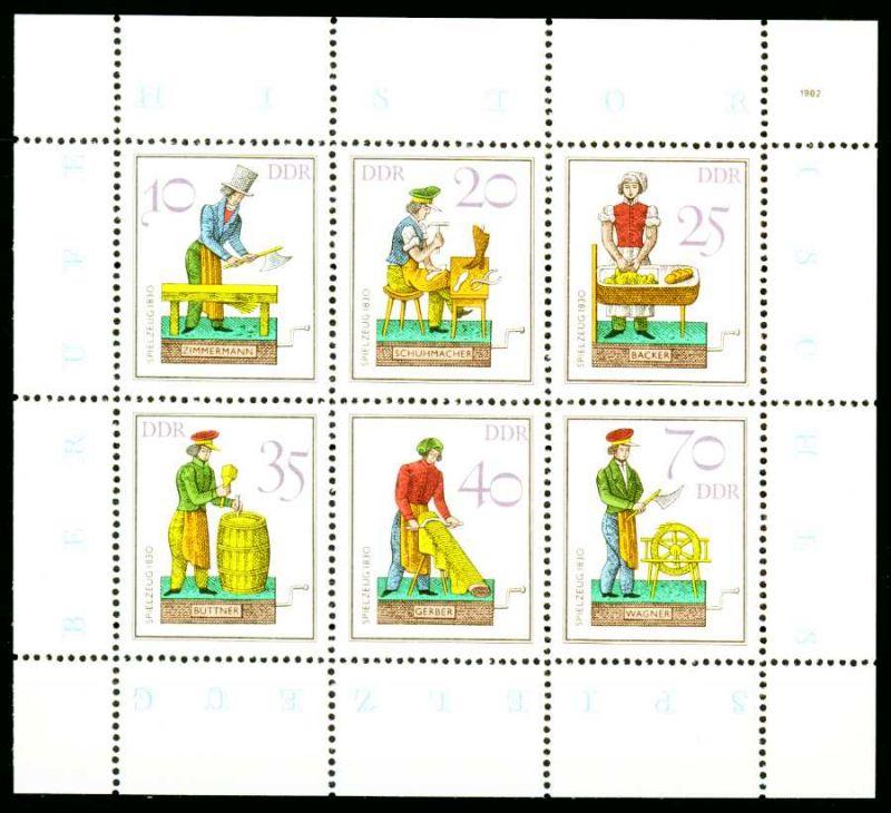 DDR BLOCK KLEINBOGEN Nr 2758KB-2763KB postfrisch KLEINB S5193E6