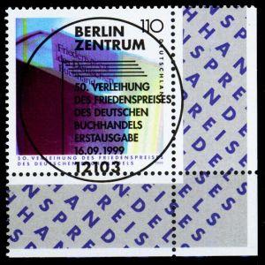 BRD 1999 Nr 2075 ZENTR-ESST ECKE-URE 2CBBFA