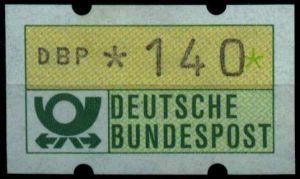 BRD ATM 1981 Nr 1-1-140R postfrisch S7F525E