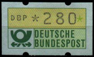 BRD ATM 1981 Nr 1-1-280 postfrisch S4B3992