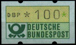 BRD ATM 1981 Nr 1-1-100R postfrisch S7F5282