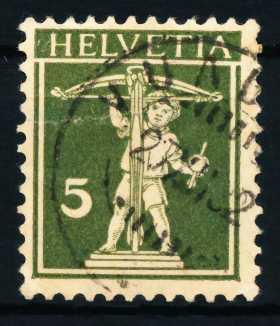 SCHWEIZ 1924 Nr 201x gestempelt 4C667E