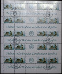 DDR ZUSAMMENDRUCKBOGEN Nr 3266BO gestempelt BO 26BC42