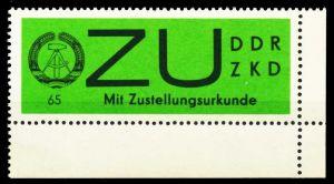 DDR DIENST ZU Nr 2x postfrisch ECKE-URE 568A1E