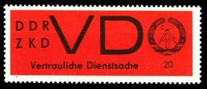 DDR DIENST VD Nr 3x postfrisch S92AF6A