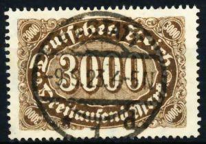 D-REICH INFLA Nr 254b gestempelt 6B18D6