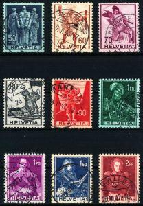 SCHWEIZ 1941 Nr 377-385 gestempelt 4C98FE