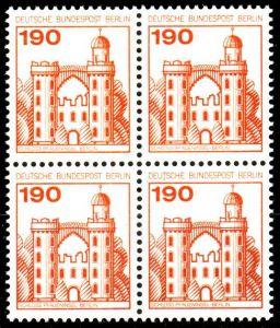 BERLIN DS BURGEN u. SCHLÖSSER Nr 539 postfrisch VIERERB 1AED42