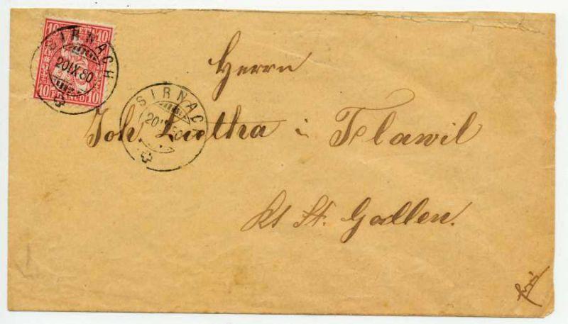 SCHWEIZ SZ.HELV 1867 Nr 30a BRIEF EF 55C35A