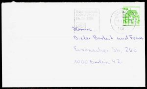BERLIN DS BURGEN u. SCHLÖSSER Nr 615 BRIEF EF 1F6292