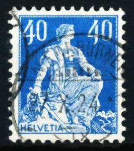 SCHWEIZ 1921 Nr 170b gestempelt 4C6522