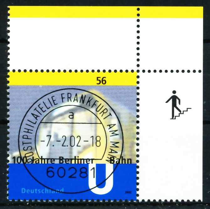 BRD 2002 Nr 2242 zentrisch gestempelt ECKE-ORE 648D2A