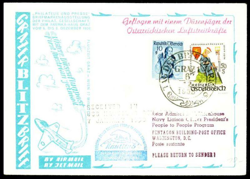 österreich Flugpost Nr 8951043 Brief Mif 28b42a Nr 444004ebaea