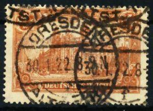 D-REICH INFLA Nr 114a zentrisch gestempelt 68731E