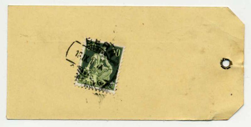 SCHWEIZ 1908 Nr 107x gestempelt Briefst³ck 6B6B36
