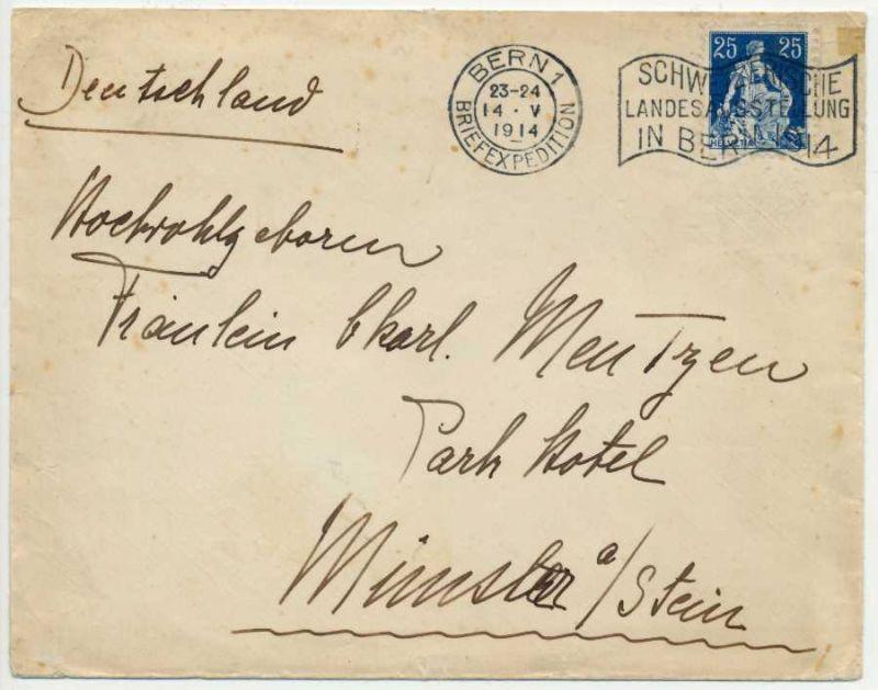 SCHWEIZ 1908 Nr 103 BRIEF EF 6B6B1A
