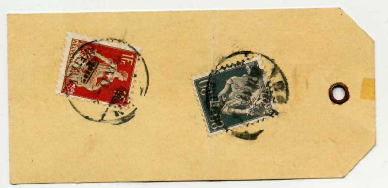 SCHWEIZ 1908 Nr 109x+141x gestempelt Briefst³ck 6B6B3E