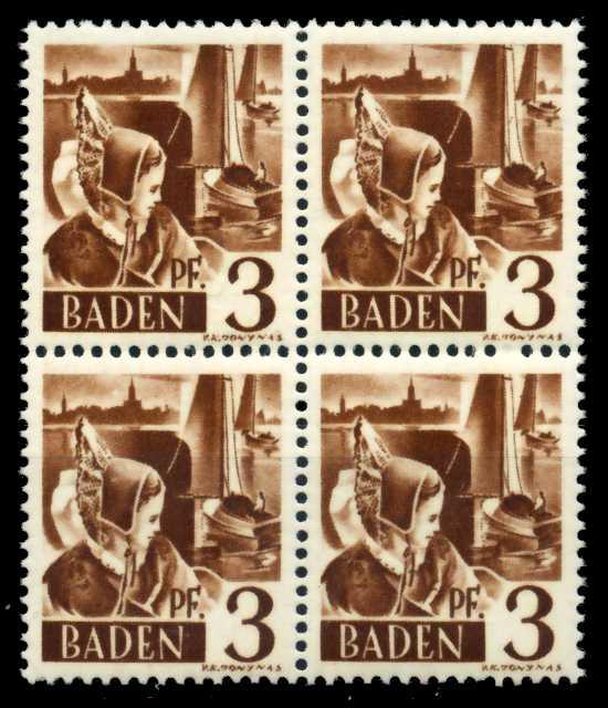 F-ZONE BADEN Nr 2yvI postfrisch VIERERBLOCK 6C0AB2