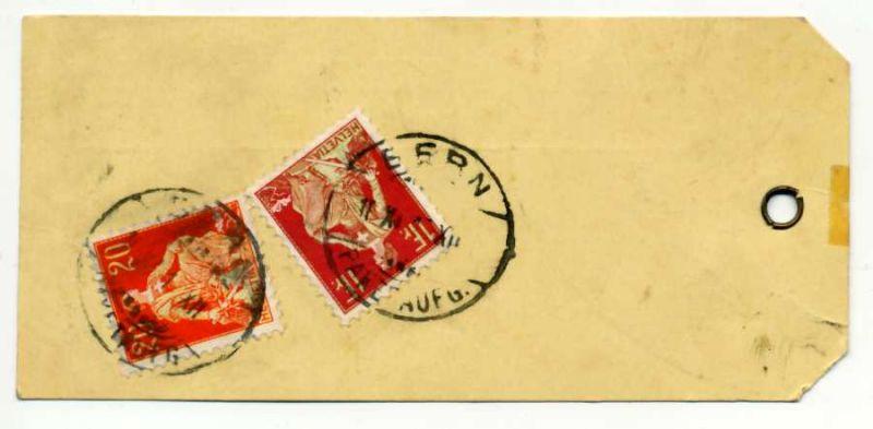 SCHWEIZ 1908 Nr 109x+102x gestempelt Briefst³ck 6B6B3A